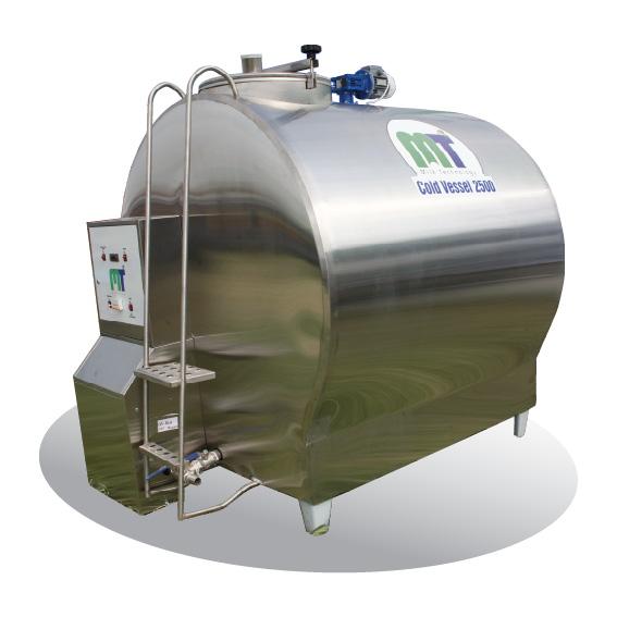 Танк для охлаждения молока закрытого типа